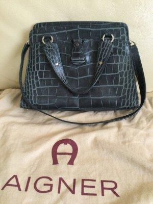 Aigner Handbag dark blue leather