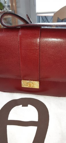 Aigner Shoulder Bag dark red leather