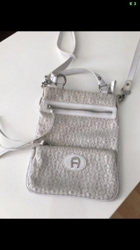 Aigner Handbag white-light grey mixture fibre