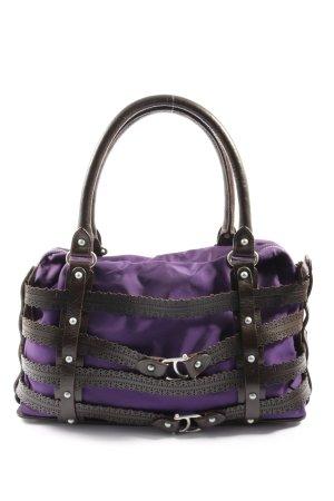 Aigner Handtasche lila-braun Casual-Look