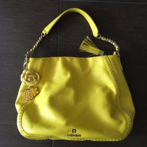 Aigner Shoulder Bag yellow leather