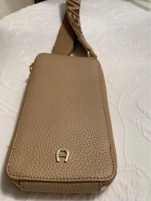 Aigner Handy Tasche zum Umgängen rosa-beige ORIGINAL