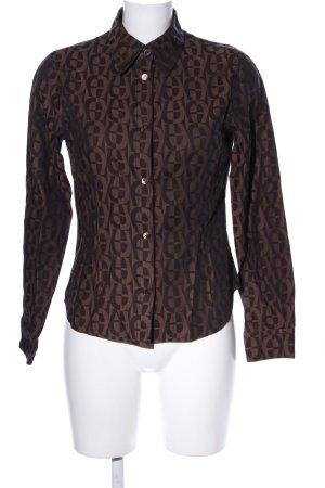 Aigner Hemdblouse bruin-zwart Patroon-mengeling zakelijke stijl