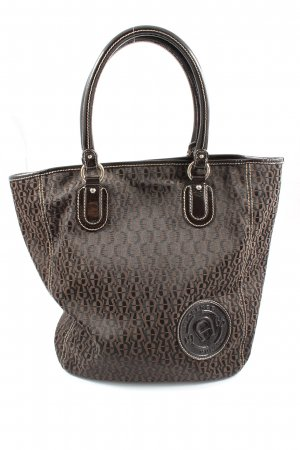 Aigner Carry Bag brown-black allover print casual look