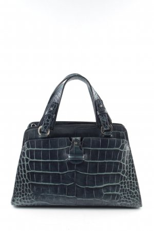 Aigner Carry Bag blue animal pattern business style