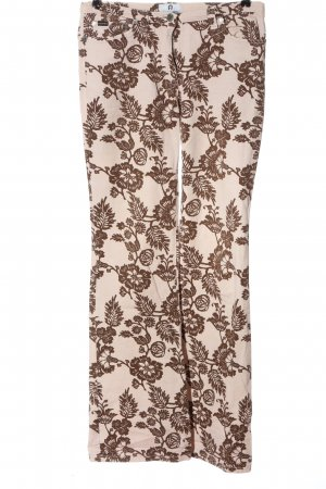 Aigner High Waist Trousers pink-brown allover print casual look
