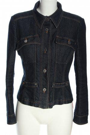 Aigner Veste en jean bleu style décontracté