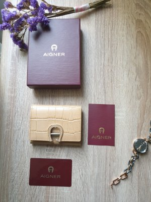 Aigner Card Case sand brown