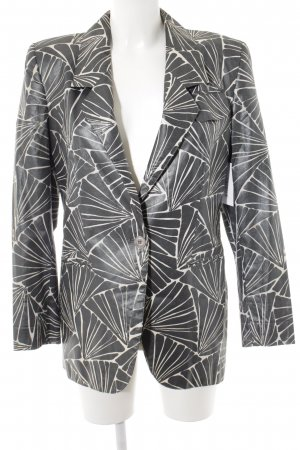 Aigner Kurz-Blazer grau-wollweiß abstraktes Muster