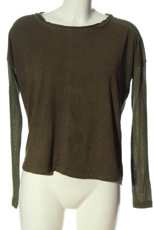 Vero Moda Langarm-Bluse khaki Casual-Look