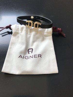Aigner Bracelet noir-argenté
