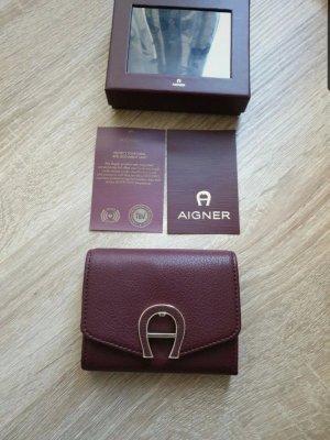 Aigner Leder Geldbörse Portemonnaie Neu