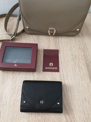 Aigner Wallet black-gold-colored