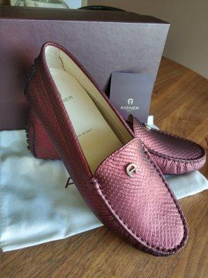 Aigner Moccasins bordeaux leather