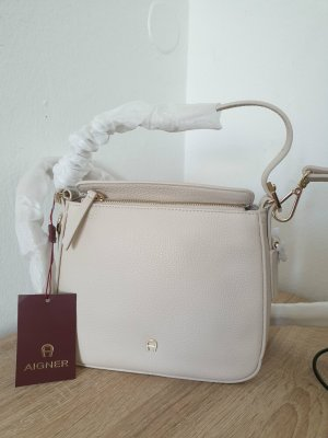 Aigner Crossbody bag gold-colored-natural white leather