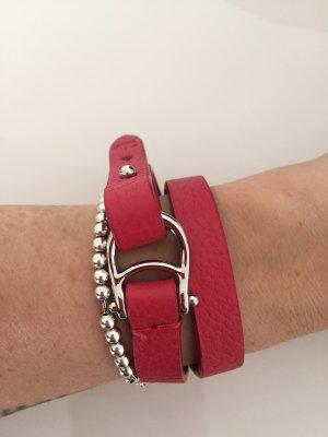 Aigner Bracelet en cuir magenta