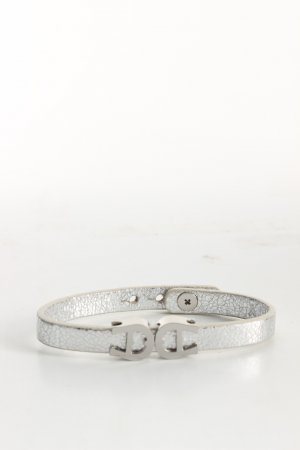 Aigner Leather Bracelet silver-colored casual look