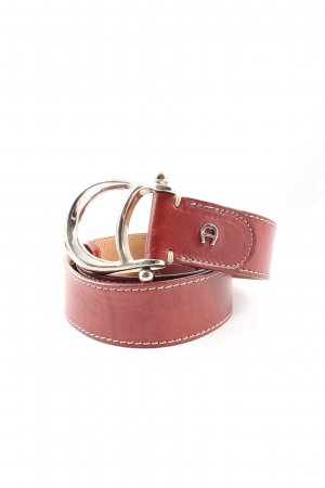 Aigner Leather Belt red casual look
