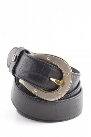 Aigner Ledergürtel schwarz Casual-Look