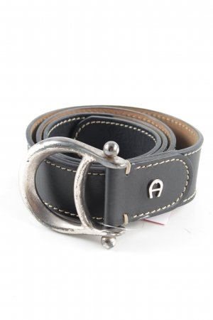 Aigner Leather Belt black elegant