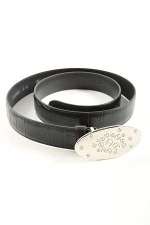 Aigner Leather Belt black animal pattern casual look