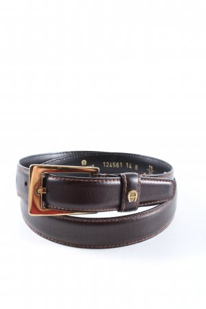 Aigner Leather Belt brown-gold-colored elegant