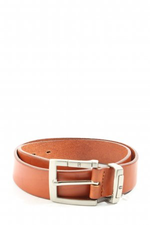 Aigner Leather Belt brown-silver-colored casual look