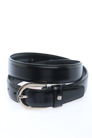Aigner Cintura di pelle nero Stampa a tema stile casual
