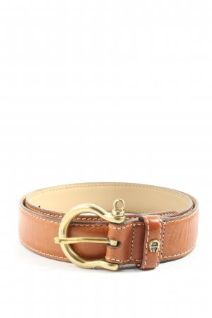 Aigner Cintura in ecopelle marrone Stampa a tema stile casual