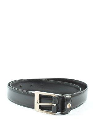 Aigner Cinturón de cuero de imitación negro look casual