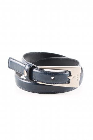 Aigner Faux Leather Belt blue casual look