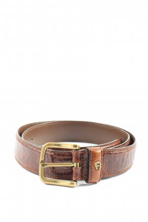 Aigner Faux Leather Belt brown animal pattern casual look