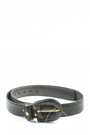 Aigner Faux Leather Belt black business style