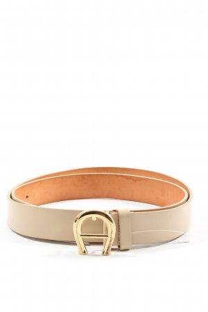 Aigner Faux Leather Belt cream casual look
