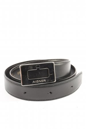 Aigner Faux Leather Belt black casual look