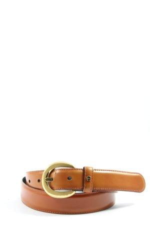 Aigner Cintura di pelle marrone-oro stile casual