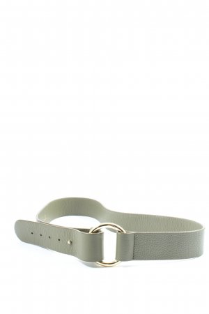 Aigner Faux Leather Belt light grey business style