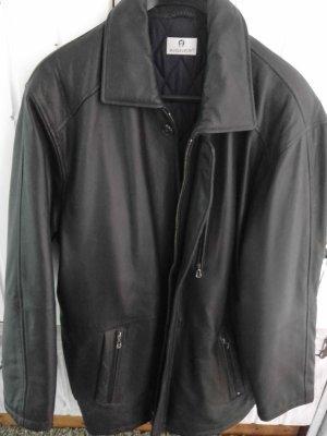 Aigner Skórzana kurtka czarny