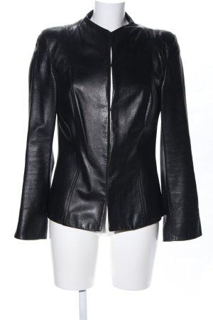 Aigner Leather Jacket black extravagant style