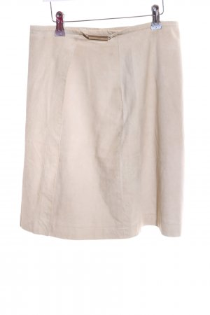 Aigner Falda de cuero blanco puro look casual