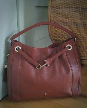Aigner Handbag russet-brown red