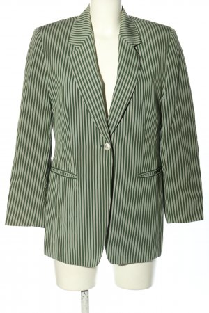 Aigner Long Blazer green-natural white striped pattern casual look