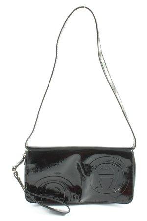 Aigner Mini sac noir imprimé allover style décontracté