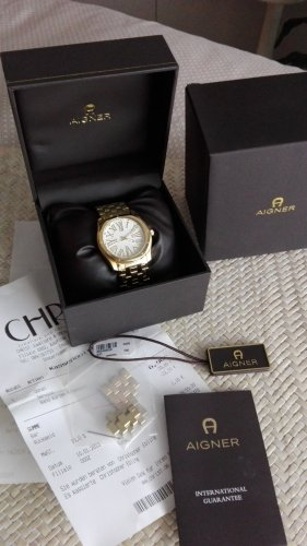 Aigner Watch With Metal Strap gold-colored