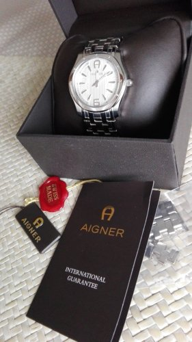 Aigner Watch With Metal Strap silver-colored