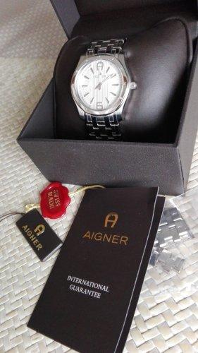 Aigner Horloge met metalen riempje zilver