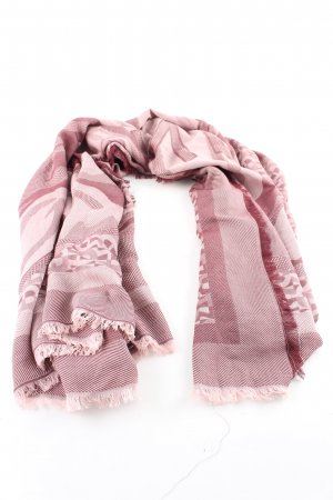Aigner Pashmina pink striped pattern business style
