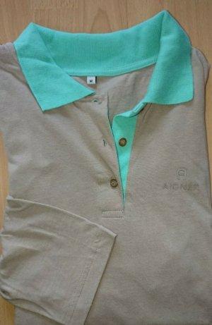 Aigner Polo Shirt beige-light blue