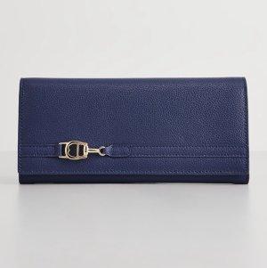 Aigner Wallet dark blue-steel blue leather