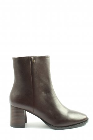Aigner Zipper Booties brown business style